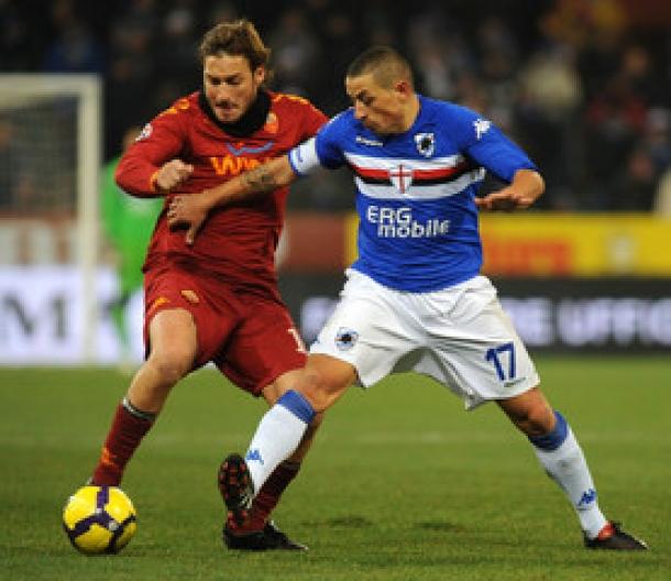 Prediksi Skor Akhir Sampdoria Vs AS Roma 26 September 2013