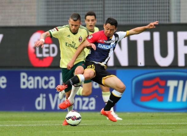 Udinese Hadirkan Kekalahan Untuk Tambah Derita AC Milan